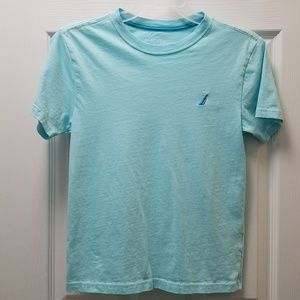 Nautica Boys Seafoam Aqua Ocean Blue T Shirt